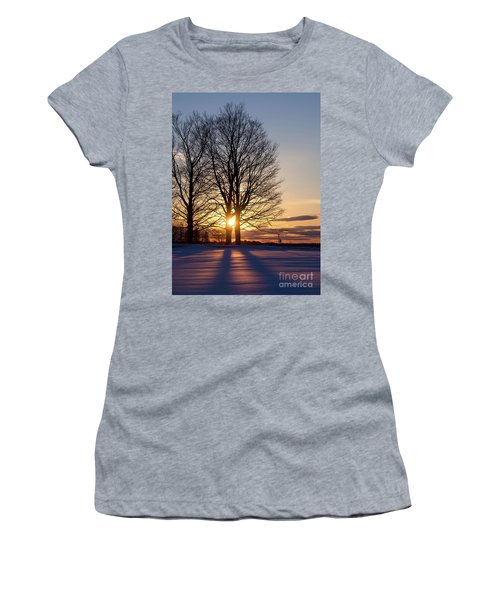 Winter, Crystal Spring Farm, Brunswick, Maine -78592 Women's T-Shirt (Athletic Fit)