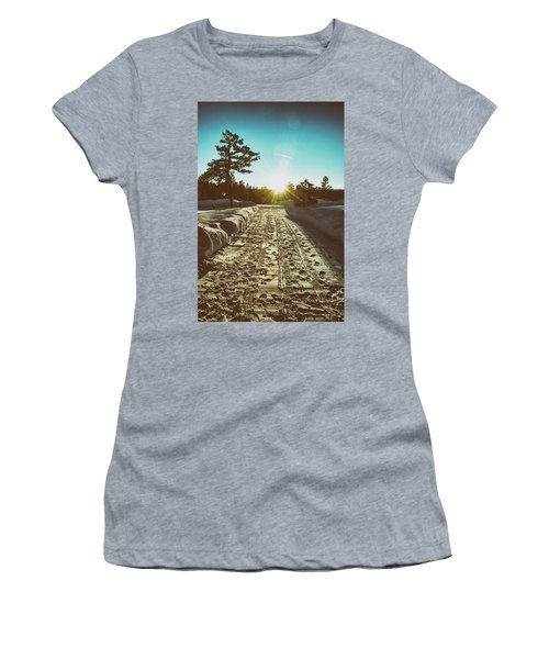 Winter Driveway Sunset Women's T-Shirt