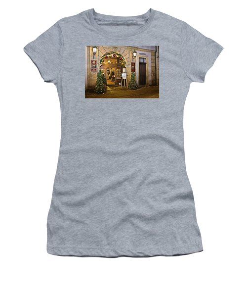 Women's T-Shirt featuring the photograph Winter Holidays In Bamberg, Germany 3 by Tatiana Travelways