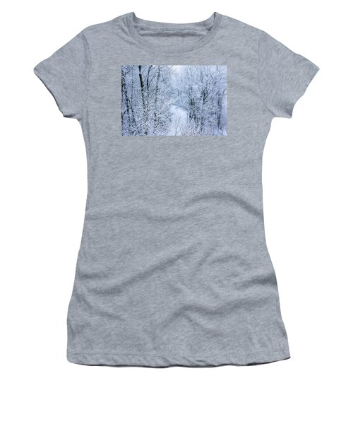 Winter Ice Storm Women's T-Shirt (Athletic Fit)