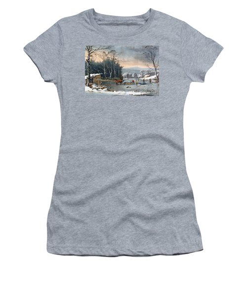 Winter In The Country Women's T-Shirt