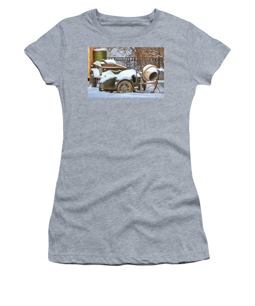 winter in the village Russian Women's T-Shirt (Athletic Fit)