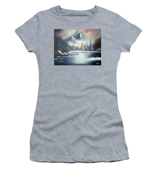 Winter Mountain Women's T-Shirt (Athletic Fit)