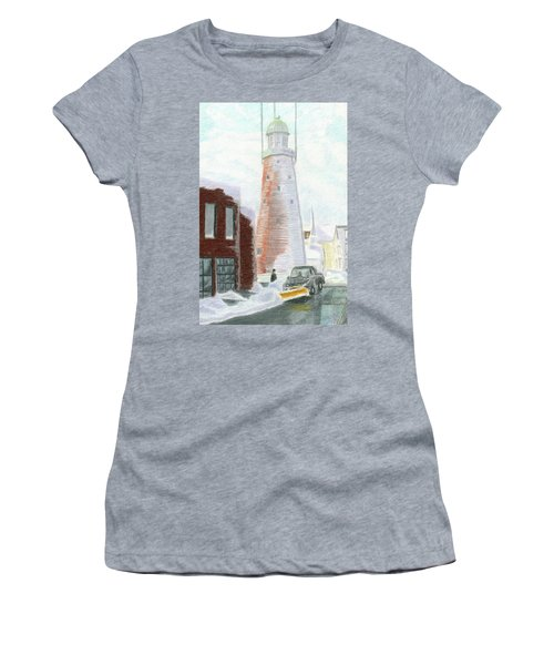 Winter On Munjoy Hill Women's T-Shirt (Athletic Fit)