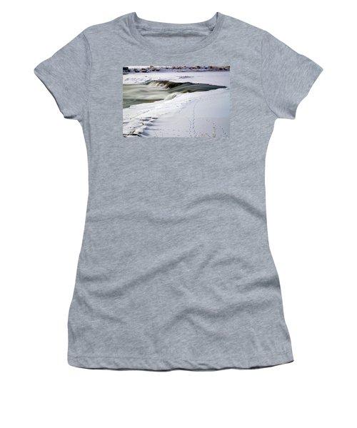 Winter Tracks Women's T-Shirt (Junior Cut) by Eric Nielsen