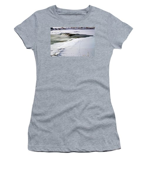 Winter Tracks Women's T-Shirt (Athletic Fit)