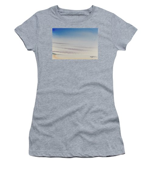 Wisps Of Clouds At Sunset Over A Calm Bay Women's T-Shirt