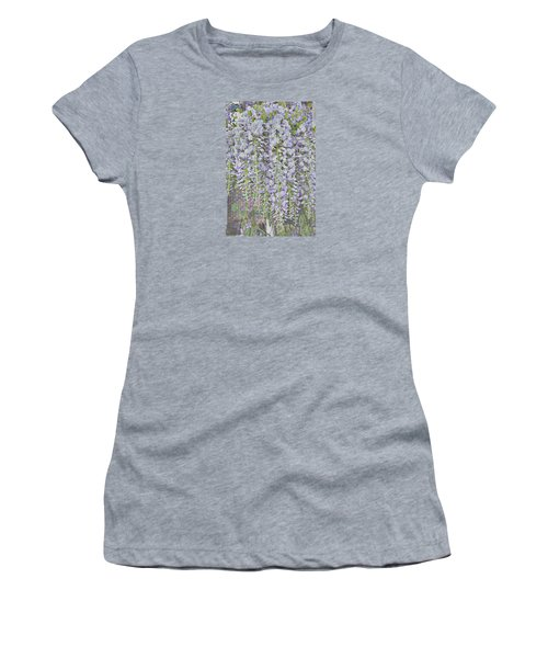 Women's T-Shirt (Athletic Fit) featuring the photograph Wisteria Before The Hail by Nareeta Martin