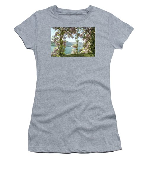 Wisteria Trellis Lago Di Como Women's T-Shirt (Junior Cut) by Brooke T Ryan