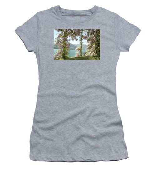 Wisteria Trellis Lago Di Como Women's T-Shirt (Athletic Fit)