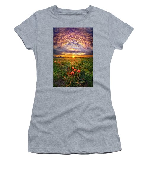Women's T-Shirt (Junior Cut) featuring the photograph With Gratitude by Phil Koch