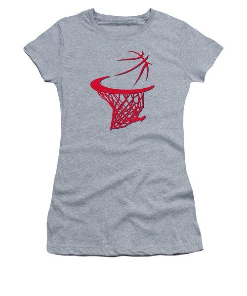 Wizards Basketball Hoop Women's T-Shirt (Junior Cut) by Joe Hamilton