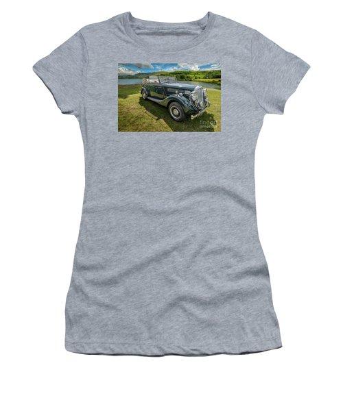 Women's T-Shirt (Junior Cut) featuring the photograph Wolseley Classic Car by Adrian Evans