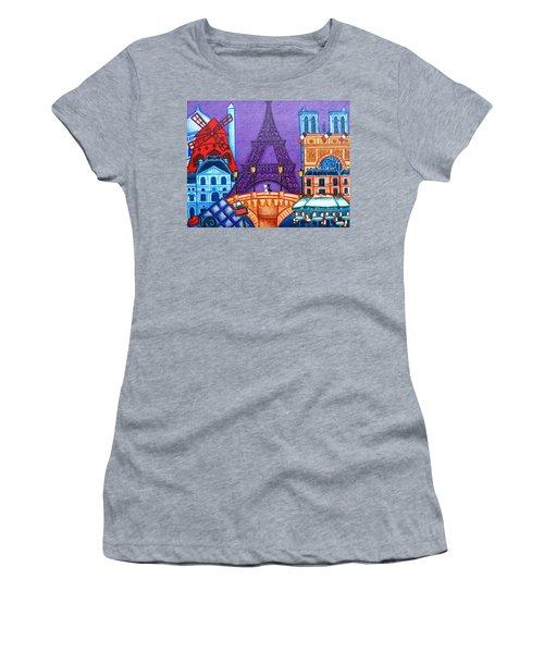 Wonders Of Paris Women's T-Shirt (Athletic Fit)