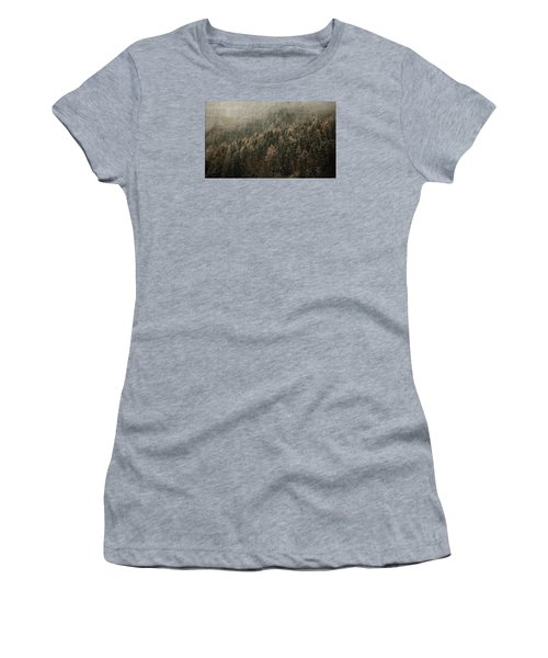 Woods In Winter Women's T-Shirt (Junior Cut) by Vittorio Chiampan
