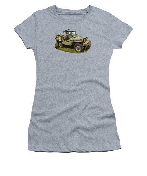 World War Two - Willys - Army Jeep  Women's T-Shirt (Junior Cut) by Keith Webber Jr