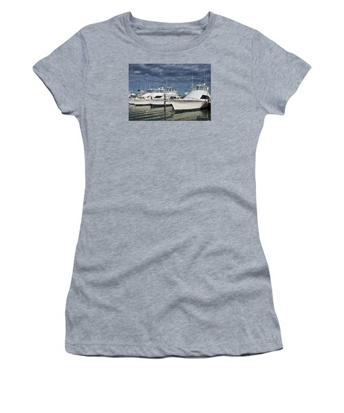 Yachts At The Dock Women's T-Shirt (Athletic Fit)