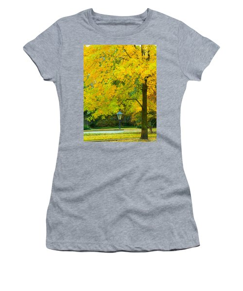 Yellow Drapes Women's T-Shirt (Athletic Fit)