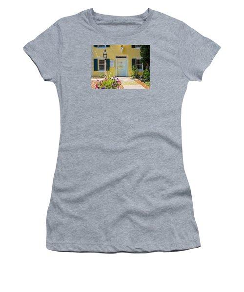Yellow House In Kingston Women's T-Shirt (Junior Cut) by Nancy De Flon