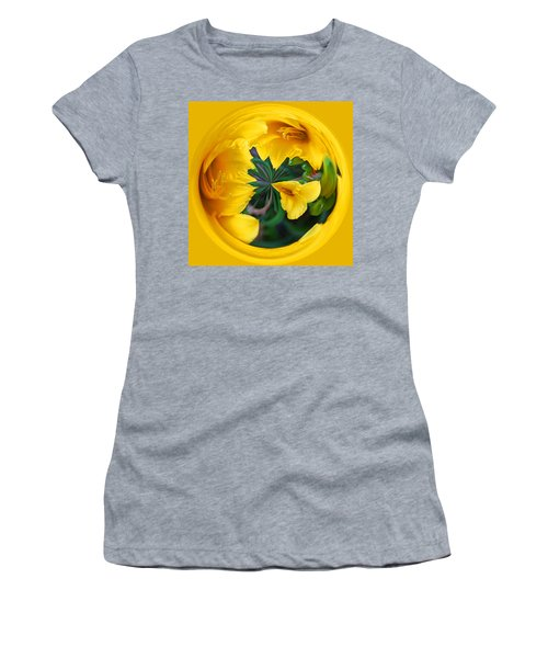 Yellow Lily Orb Women's T-Shirt (Athletic Fit)