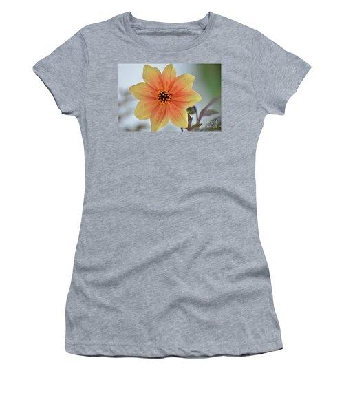 Yellow Orange Dahlia Perfection Women's T-Shirt (Athletic Fit)