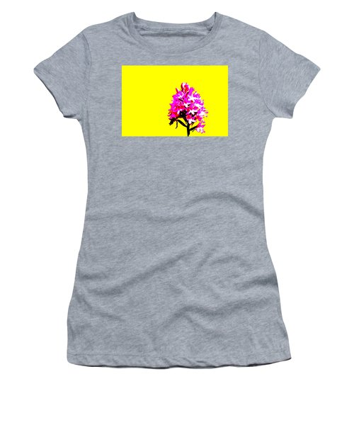 Yellow Pyramid Orchid Women's T-Shirt (Athletic Fit)