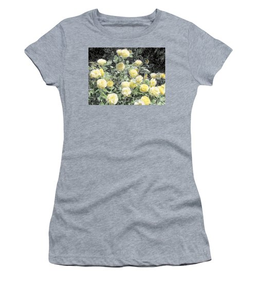 Yellow Roses Women's T-Shirt (Junior Cut) by Carol Crisafi