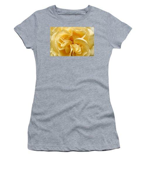 Yellow Ruffles - Rose Women's T-Shirt