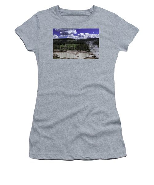 Women's T-Shirt (Junior Cut) featuring the photograph Yellowstone Tar Pits by Jason Moynihan
