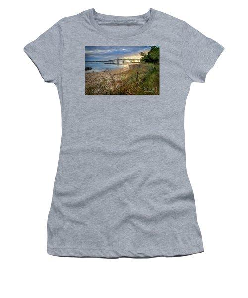 Yorktown Beach Sunrise Virginia Women's T-Shirt (Athletic Fit)
