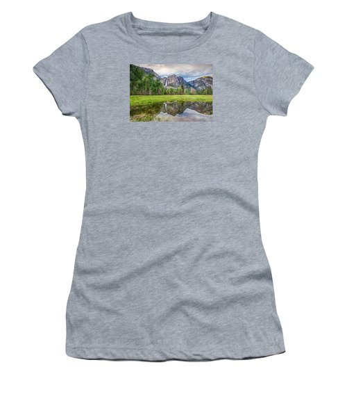 Yosemite Falls And Reflections 2 Women's T-Shirt (Athletic Fit)
