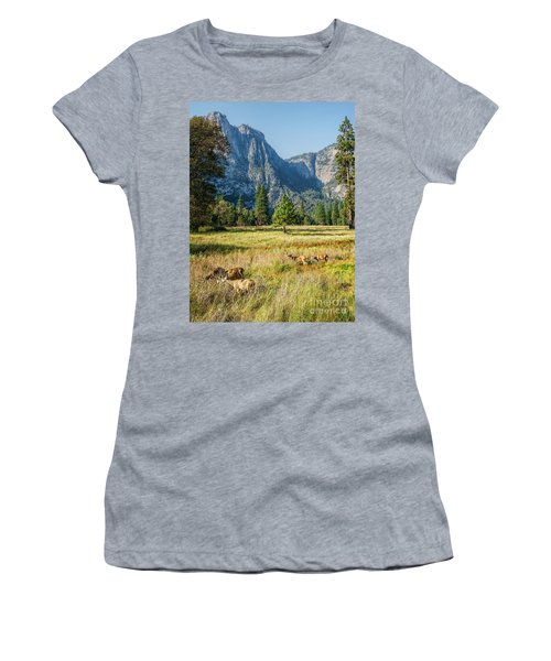 Yosemite Valley At Yosemite National Park Women's T-Shirt (Athletic Fit)