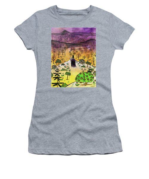 Women's T-Shirt (Athletic Fit) featuring the painting You Are The Message by Nathan Rhoads