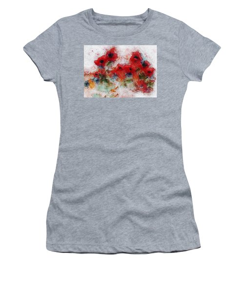 Women's T-Shirt (Athletic Fit) featuring the painting Young Ones by Claire Bull