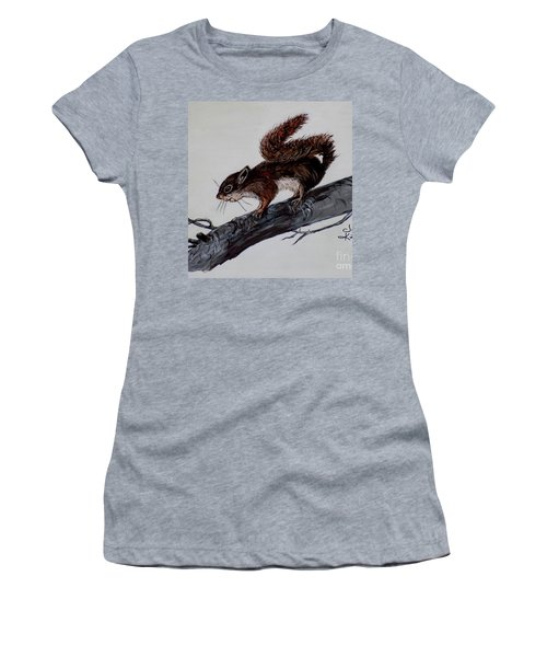 Young Squirrel Women's T-Shirt (Athletic Fit)