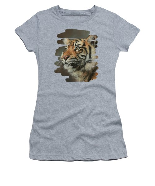 Young Sumatran Tiger Portrait Women's T-Shirt