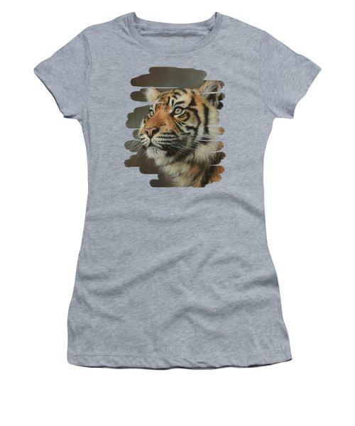 Young Sumatran Tiger Portrait Women's T-Shirt
