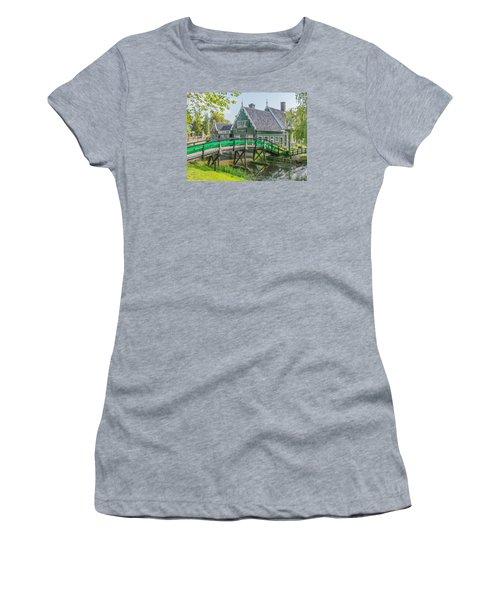 Zaanse Schans Village Women's T-Shirt (Athletic Fit)