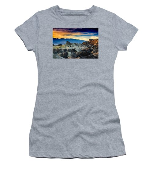 Zabriskie Point At Sundown Women's T-Shirt (Junior Cut) by Janis Knight