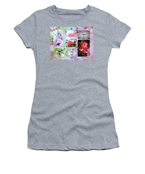 Zen Collage Women's T-Shirt (Athletic Fit)
