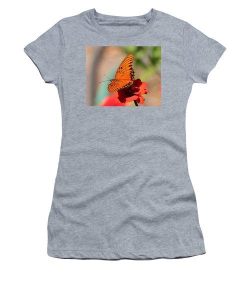 Zinnia With Butterfly 2669 Women's T-Shirt
