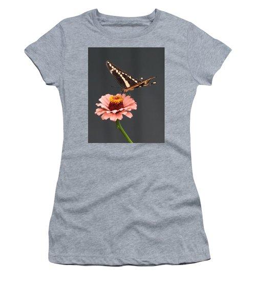 Zinnia With Butterfly 2702 Women's T-Shirt