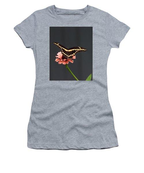 Zinnia With Butterfly 2708  Women's T-Shirt