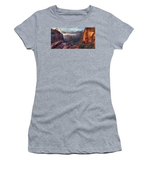 Zion Canyon Grandeur Women's T-Shirt (Athletic Fit)