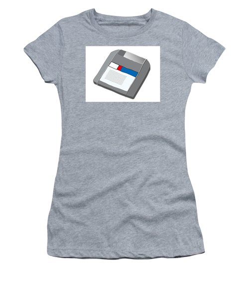 Zip Disk Women's T-Shirt (Athletic Fit)