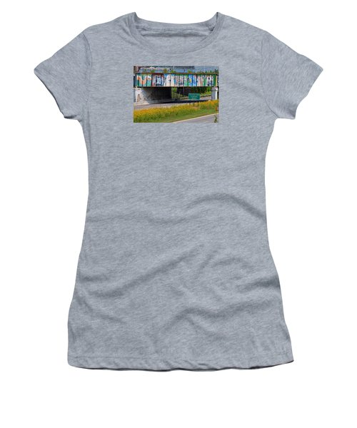 Zoo Mural Women's T-Shirt (Junior Cut) by Michiale Schneider
