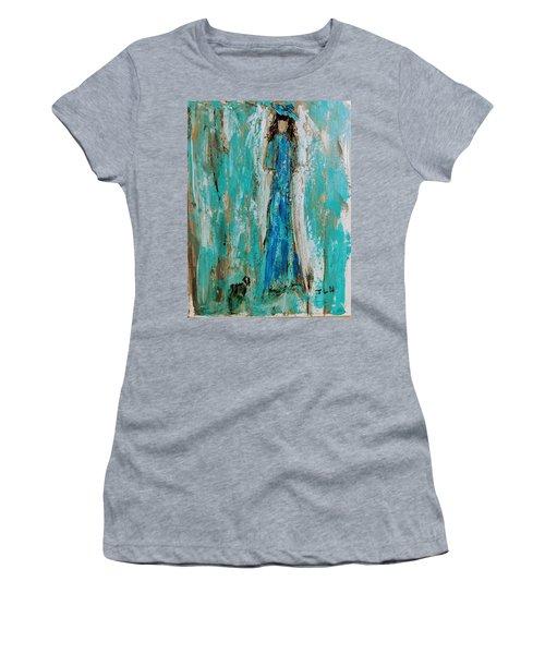 Angel With Her Pet Women's T-Shirt