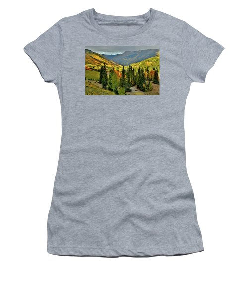 Looking North From Red Mountain Pass Women's T-Shirt (Athletic Fit)
