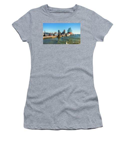 Panoramic View Of Hamburg. Women's T-Shirt