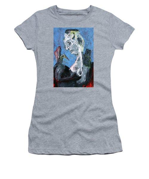 Portrait With A Bird Women's T-Shirt